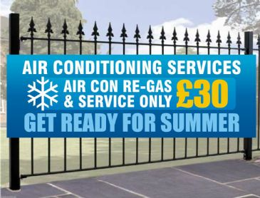 Air Conditioning Regas Banner